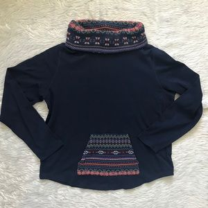 🌵Chaps : Navy Blue Long Sleeve Turtle Neck Top